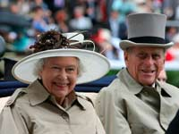 הנסיך פיליפ עם המלכה אליזבט / צילום: רויטרס