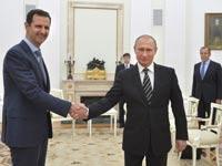 ולדימיר פוטין ובשאר אסד / צילום: רויטרס