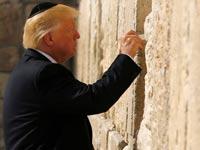 הנשיא דונאלד טראמפ בכותל המערבי / צילום: רויטרס