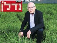 """דוד יפרח על אדמות ניר צבי. """"נהפוך לשכונה פרברית בלי פעילות חקלאית"""" / צילום: יוגב עמרני"""