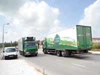 משאית של חברת ביכורי השדה / צילום: איל יצהר