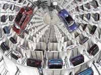 מגדל מסירה של פולקסווגן / צילומים: רויטרס