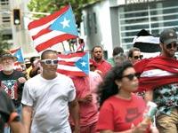 אזרחי פורטו ריקו במחאה / צילום: רויטרס