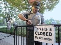 """פארק לאומי סגור בארה""""ב בשנת 2013 / צילום:רויטרס"""