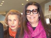 לילאן בטנקור ובתה פרנסואז  / צילום: רויטרס