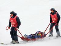 פציעה במהלך סקי / צילום: רויטרס