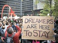 הפגנה בשיקגו / צילום: רויטרס