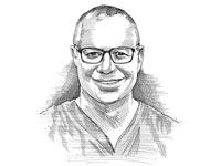 """ד""""ר זאב אורמינר / איור: גיל ג'יבלי"""