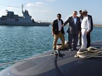 """נתניהו בביקור בצוללת / צילום: קובי גדעון - לע""""מ"""