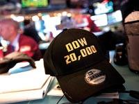 כובע דאו בזירת המסחר / צילום:  בלומברג