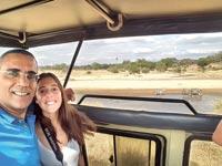 אבישי קרואני, בתו גיל והזברות בספארי בטנזניה / צילום: פרטי