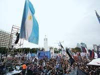 הפגנת תמיכה בנשיאה הפורשת כריסטינה קירשנר / צילום: רויטרס