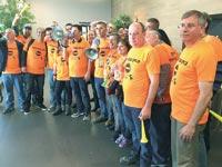 מחאת עובדי כלל ביטוח מארס האחרון / צילום: רוני רז - באדיבות דוברות ההסתדרות