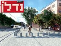 הדמיית הרכבת ברחוב / צילום: תוכנית אב לתחבורה
