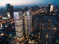 הדמיית מגדלי היצירה בתל אביב קרדיט - יסקי-מור-סיון אדריכלים