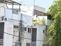 בניה על גג בחולון / צילום: תמר מצפי
