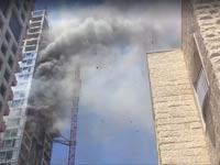 """שריפה מגדלי המלך דוד ת""""א /צילום: מהוידאו"""