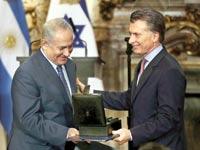נתניהו ומאקרי. ראש הממשלה הישראלי המכהן הראשון מאז ומעולם באמריקה הלטינית / צילום: רויטרס