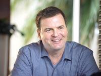 """כריס רולנד, מנכ""""ל מדיגוס. תולה תקוות באירופה / צילום: תמר מצפי"""