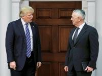 דונאלד טראמפ וג'יימס מאטיס / צילום: רויטרס