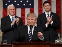 מימין לשמאל פול ריאן, דונלד טראמפ ומייק פנס / צילום: רויטרס
