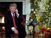 הנשיא טראמפ בשיחת טלפון עם ילדים / צילום: Jonathan Ernst, רויטרס