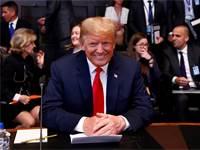 "נשיא ארה""ב, דונלד טראמפ, בפגישת מועצת נאט""ו בבריסל / צילום: Francois Lenoir, רויטרס"