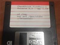 הדיסקט הראשוני של FireWall-1 / באדיבות שלמה קרמר