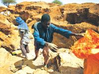 מכרה זהב בניז'ר. מקור חיים במדינה שבה השכר הממוצע הוא 2.71 דולרים צילום: Gettyimages/Anadolu Agency