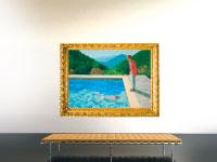 דיוקן של אמן בברכה של דיוויד הוקני / צילום: מתוך וויקיפדיה