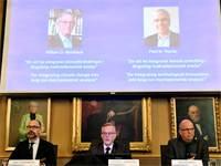 ההכרזה על הזוכים בפרס נובל לכלכלה / צילום: רויטרס