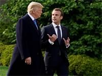 טראמפ ומקרון בפגישתם בבית הלבן בסוף החודש שעבר / צילום: ג'ושווה רוברטס, רויטרס