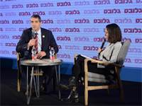 הילה ויסברג ופרופ' יצחק קרייס בפאנל בריאות חדשה בוועידת ישראל לעסקים 2018 / צילום: איל יצהר