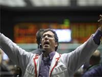 סוחר בבורסת שיקגו ב-15 בספטמבר 2008 / צילום: רויטרס