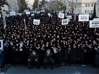 הפגנות חרדים נגד הגיוס, מרץ 2017 / צילום: רויטרס