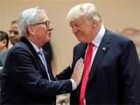 "נשיא ארה""ב, דונלד טראמפ וז'אן קלוד יונקר, נשיא הנציבות האירופית / צילום: רויטרס"