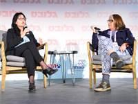 שלומית וגמן, ראש הרשות לאיסור הלבנת הון, בשיחה עם סטלה קורין ליבר / צילום: תמר מצפי