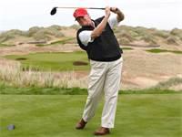 מחשבות של טראמפ ממגרש הגולף צילום: רויטרס