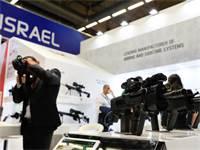 הדוכן הישראלי בתערוכה הביטחונית הבין-לאומית Eurosatory / צילום: רויטרס