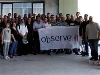המשקיע החדש דייב דה וולט עם עובדי ObserveIT / צילום: יחצ