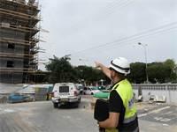 ביקורת פתע באתרי בנייה באשדוד / צילום: אבי חיון