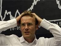 סוחר בבורסת פרנקפורט ב-16 בספטמבר 2008 / צילום: רויטרס