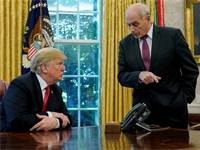 ג'ון קלי ודונלד טראמפ / צילום: REUTERS/Jonathan Ernst