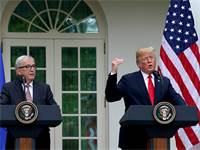"נשיא ארה""ב דונלד טראמפ וז'אן קלוד יונקר נשיא הנציבות האירופית / רויטרס"