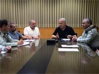 """דיון הערכת המצב בקריה בת""""א / צילום: אריאל חרמוני, משרד הביטחון"""