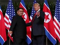 המפגש בין דונלד טראמפ לקים ג'ונג און / צילום: רויטרס