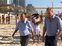 רון חולדאי והנסיך וויליאם / צילום: טל שניידר