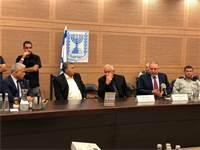 ליברמן, דיכטר, פרץ ולפיד בוועדת החוץ והביטחון / צילום: טל שניידר