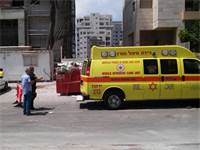 """אתר התאונה בתל אביב / צילום: מד""""א"""
