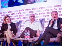 רונית הראל, ראובן אבלגון וגיא גיסין בוועידת ישראל לעסקים \ צילום: שלומי יוסף